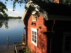 Sauna by the lake Finland Dock House, Finnish Sauna, The Beautiful Country, Baltic Sea, Scandinavian Home, Helsinki, Nice View, Beautiful Landscapes, Buildings