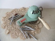 50s Hairdryer and Perm Rod Clips Collection by UrbanRenewalDesigns, $18.00