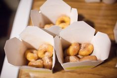 Send each guest home with a takeaway box filled with mini-doughnuts.