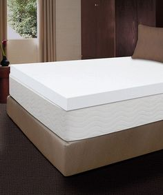 This 4'' Body Therapy Memory Foam Mattress Topper by Comfort Revolution is perfect! #zulilyfinds