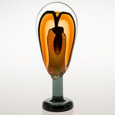 "OIVA TOIKKA - ""Lollipop"" glass sculpture for Nuutajärvi 2008, numbered 25/100, Finland. [h. 31 cm]"