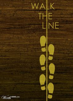 Walking the line poster. Amazing Johnny Cash movie
