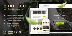 TheLeaf - Tea Production Company & Online Tea Shop by AncoraThemes CURRENT VERSION 1.5 (see Change log at the bottom of this page) TheLeaf is a modern and functional theme best suitable for your
