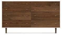 Mino 8-Drawer Nightstand, Walnut