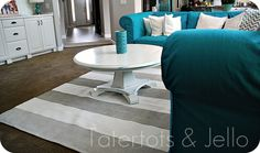 This?....Painted Striped Nautical Rug {tutorial}