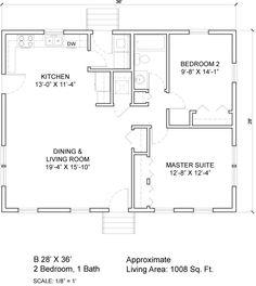 open floor plan 24 x 42 24x32 View Floor Plan 768 sqft