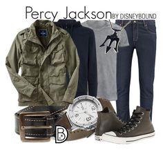 """Percy Jackson"" by leslieakay ❤ liked on Polyvore featuring Belstaff, BOSS Green, Columbia, Old Navy, Converse, women's clothing, women, female, woman and misses"