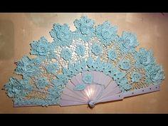 Tutorial Abanico DONNA Tejido a Crochet Paso a Paso Handmade Crochet FAN - YouTube Crochet Home, Irish Crochet, Crochet Shawl, Crochet Crafts, Crochet Doilies, Yarn Crafts, Crochet Projects, Free Crochet, Knit Crochet