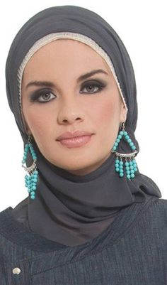cool Hijab Fashion with Rings