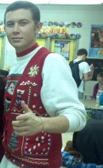 Tacky sweater day. Makes me love scotty even more!