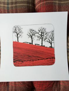 Freshly Ploughed Fields. Screen Print by James Bywood