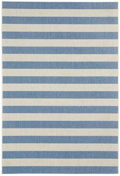 Finesse Stripe Capri Blue Rugs | Capel Rugs Home Furnishings