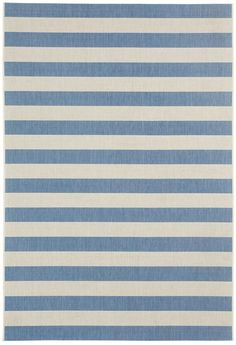 Finesse Stripe Capri Blue Rugs | Capel Rugs Home Furnishings