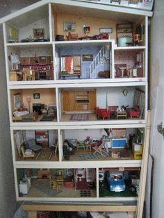 Barbie House Furniture, Home Furniture, Victorian Dollhouse, Diy Dollhouse, Fairy Houses, Doll Houses, Be Here Now Tattoo, Denmark House, Mini Houses