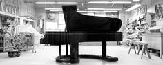 """When it came time to celebrate Steinway's piano, the company turned to furniture/interior designer Frank Pollaro who also designed the limited edition """"Rhapsody in Blue"""" for Steinway… Read Music Math, Six Models, Rhapsody In Blue, Grand Piano, Music Theory, Piano Music, Classical Music, Things To Come, Top View"""