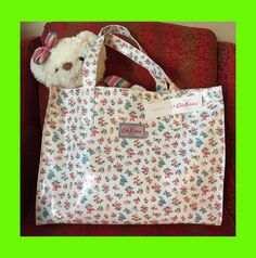 New W/ Tag Cath Kidston London Large Tote Carryall Highgate Ditsy Rose HandBag #CathKidston