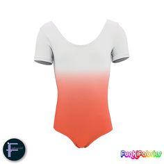 Our brand new 'mirror-shading' fabric in Orange #leotard #gymnastics #fabric https://funkifabrics.com/product/1814