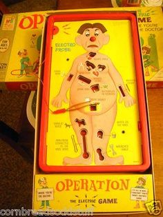 Vintage 1965 Smoking Doctor Operation game Complete