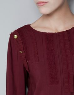TOP WITH SHOULDER BUTTONS - Shirts - Woman - ZARA
