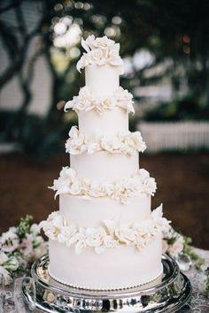 LWD Bride Mollie's Spectacular Florida Beach Wedding — Little White Dress Bridal Shop White Wedding Cakes, Beautiful Wedding Cakes, Beautiful Cakes, Dream Wedding, Wedding Day, Wedding White, Rose Wedding, White Bridal Dresses, Bridal Gowns