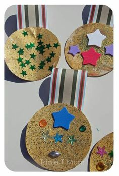 Grand Final medals for the winning footy team. Remembrance Day Activities, Remembrance Day Art, Childcare Activities, Preschool Activities, Toddler Crafts, Crafts For Kids, Family Day Care, Holiday Program, Anzac Day