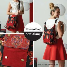 Join in for a few finishing touches on the versatile Cosmo bag from StudioKat Designs!  #sewnews #sewalong