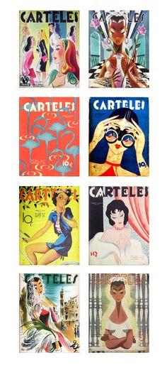 Vintage Carteles Magazine covers