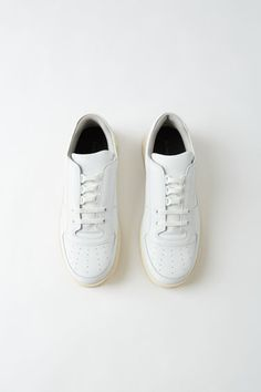 Acne Studios Perey Lace Up white/white sneakers are crafted from smooth calf leather and shaped to a round toe with a low-top silhouette. White Lace, White White, Lace Up, White Sneakers, Adidas Sneakers, Pop Fashion, Fashion Trends, Adidas Stan Smith