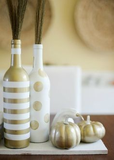 The tools for this recycled wine bottle DIY are already in your craft drawer.