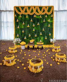 Desi Wedding Decor, Luxury Wedding Decor, Wedding Stage Decorations, Backdrop Decorations, Flower Decorations, Mehendi Decor Ideas, Mehndi Decor, Flower Room Decor, Haldi Ceremony