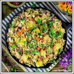 Pineapple Fried Rice in a skillet