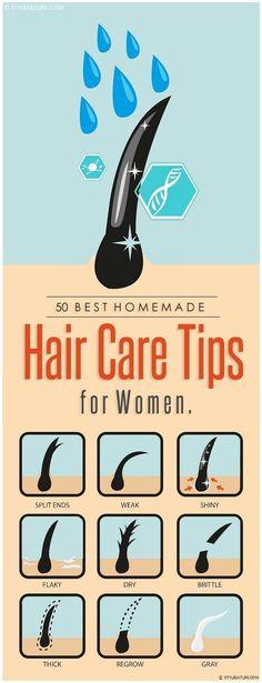 50 Best Homemade Hair Care Tips for Women.