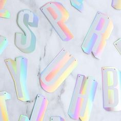Print & Stationery Holographic Foil Custom Letter Banner Fortunately professional home decorators an Holographic Foil, Hologram, Custom Banners, Foil Stamping, Best Day Ever, Packaging Design Inspiration, Just Married, Print Design, Tag Design