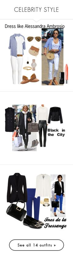 """""""CELEBRITY STYLE"""" by laura-ferrari-mercier ❤ liked on Polyvore featuring H&M, Banana Republic, Dorothy Perkins, Chloé, J.Crew, Ray-Ban, London Road, DKNY, Vita Fede and Chanel"""