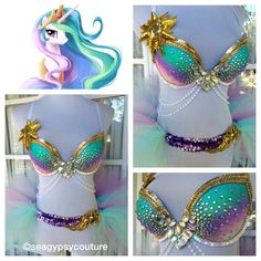 Celestia Costume | Rave Outfit -  36B/34C - My Little Pony by seagypsycouture on Etsy https://www.etsy.com/listing/257415669/celestia-costume-rave-outfit-36b34c-my