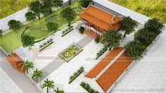 Khuôn viên rộng là lợi thế cho những công trình nhà thờ 8 mái