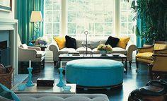 decoracao sala azul e amarelo - Pesquisa Google