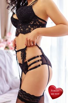 It is truly a piece of art! Elegance of guipure, attention to detail and diligent work create this fascinating lingerie […] Gothic Lingerie, Sheer Lingerie, Black Lingerie, Lingerie Set, Set Fashion, Fashion Trends, See Through Bra, Sexy Gifts, Pin Up