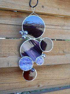 Stained Glass Bubbles  Circles  Suncatcher by DesertGirlGlass, $25.00