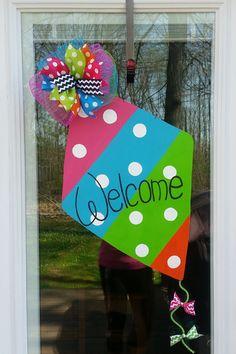 Spring Door Hanger. Kite Door Hanger. Summer by MoniLulis