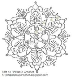 Irish Crochet Flower Motif I'm always on the lookout for new motifs to use in Irish Crochet and this one caught my eye because it's a little like Venetian Crochet in design.  Anyway, I …