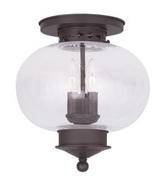 Livex Lighting Harbor 3 Light Ceiling Mount in Bronze 5037-07 #lightingnewyork #lny #lighting