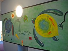 Kandinsky style mural for Turtle classroom.