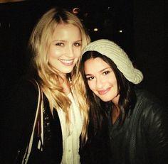 Gotta love Dianna Agron & Lea Michele.  #Glee #gorgeous