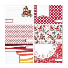 Cranberry 4x6 Journaling Cards