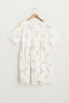 Garden Flower Dress, Ivory
