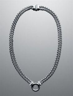 David Yurman - Pave Double Wheat Chain Necklace