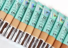Every IT Cosmetics CC+ Oil-Free Matte Foundation Swatched It Cosmetics Cc Cream, It Cosmetics Foundation, Matte Foundation, Oil Free Concealer, Under Eye Concealer, Beauty Makeup, Eye Makeup, Pale Skin Makeup, Blog Love