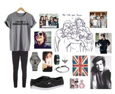 """""""Harry Styles"""" by abdcefghij ❤ liked on Polyvore featuring moda, Ulster Weavers, Make Your Odyssey, Vans, 1Wall, HUGO, Alex and Ani i Monica Vinader"""