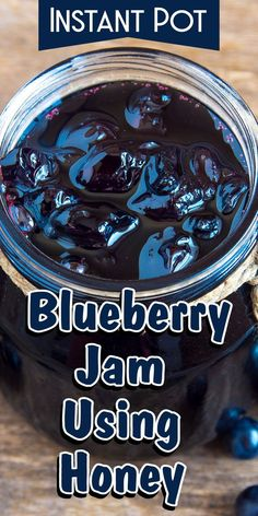 Instant Pot blueberry jam using honey - Jam - Homemade Jam Blueberry Jelly, Blueberry Recipes, Grape Jelly, Jam And Jelly, Quick And Easy Appetizers, Best Appetizers, Brunch Appetizers, Slow Cooker, Crock Pot Dips